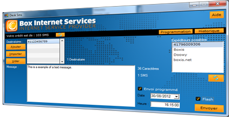 Desktop SMS software (DeskSMS)